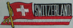 Switzerland Embroidered Flag Patch, style 01.